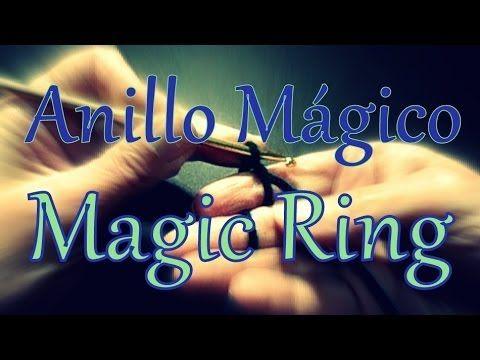 Como hacer un anillo mágico al crochet (magic ring) -tejido para zurdos-