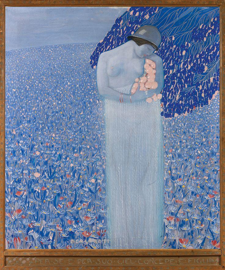 """""""Per sé e suo ciel concepe e figlia"""" (Dal Purgatorio XXVIII, 113 di Dante) (1917) by Felice Casorati"""