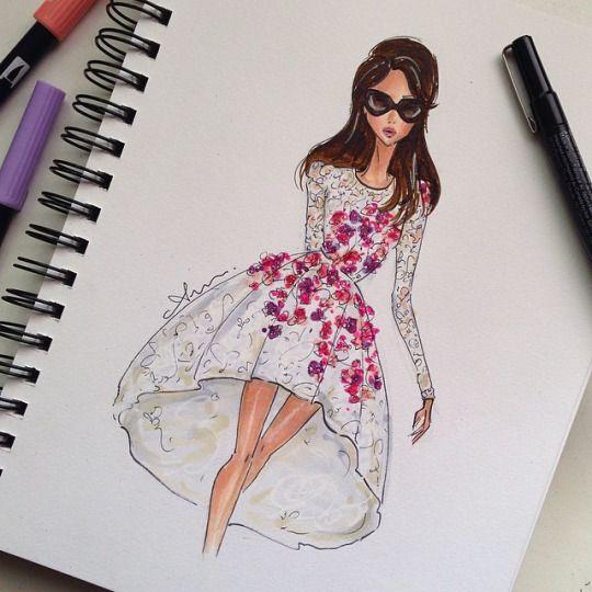 Anum Tariq fashion Illustrations
