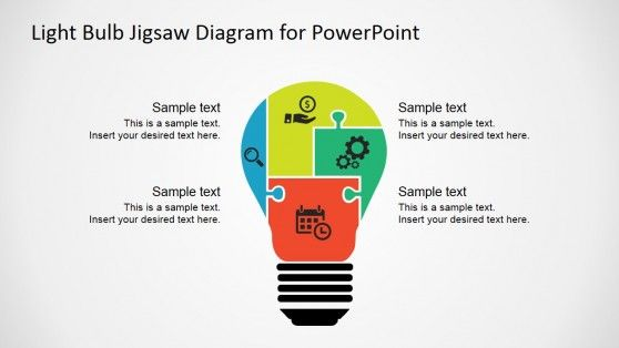158 best powerpoint shapes images on pinterest shapes template light bulb jigsaw shapes for powerpoint toneelgroepblik