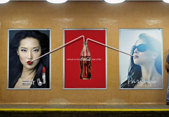 One of the many genius campaigns by Coca Cola (Repinned from Gunni)