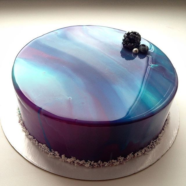 This mirror cake is almost too pretty to eat!