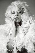 Lady Gaga photographed by Josh Olins for the October 2009 issue of British Vogue