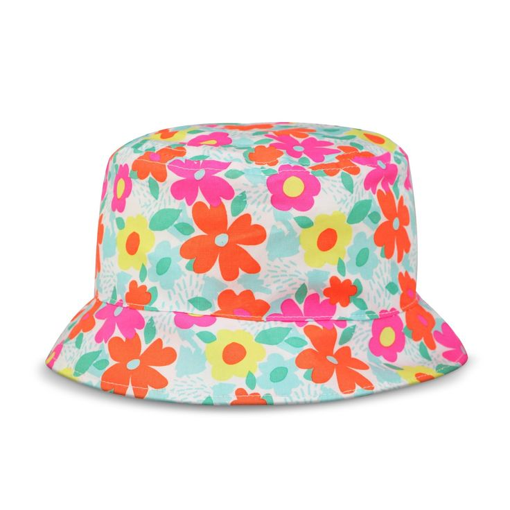 Toddler Girls' Floral Bucket Hat Circo - Pink/Orange 2T-5T, Multicolored