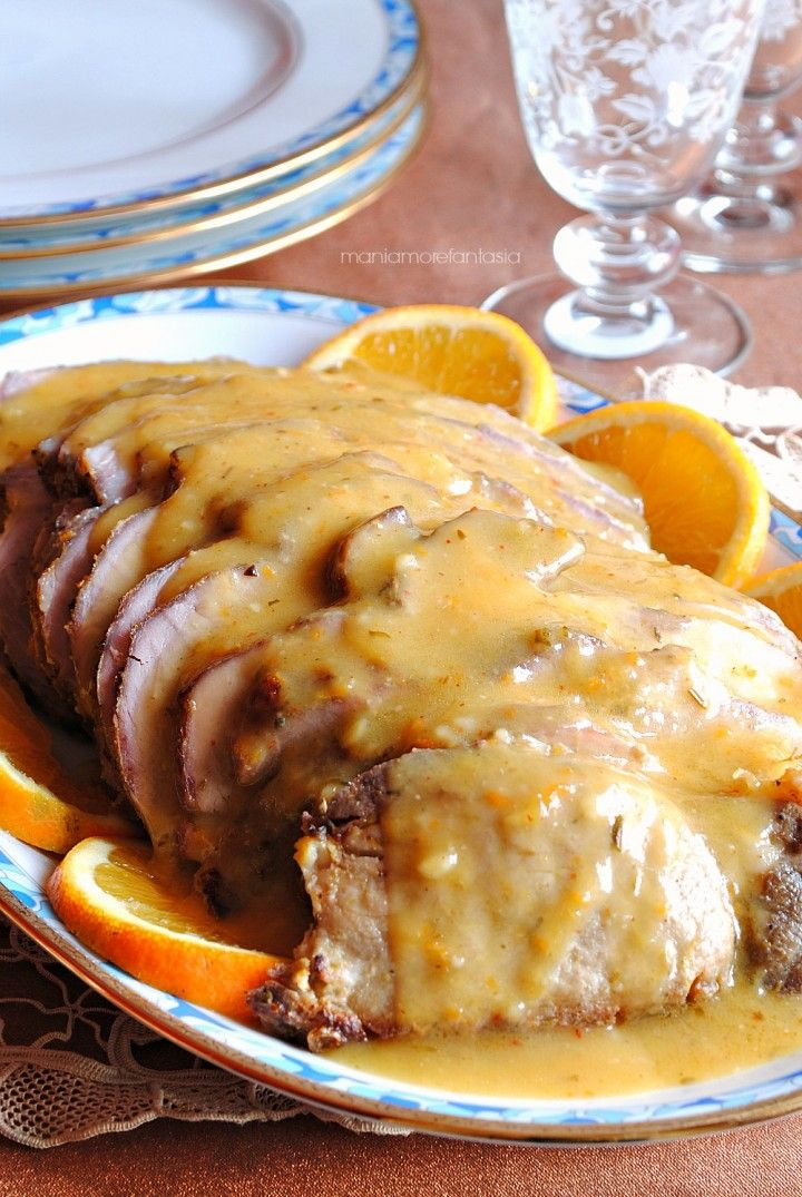Roast pork loin with orange - Arrosto di lonza di maiale all'arancia
