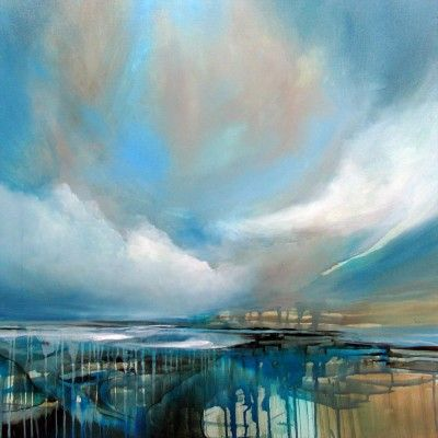 Silver Lining by Alison Johnson   Lacey Contemporary Gallery Notting Hill London  Landscape Painting
