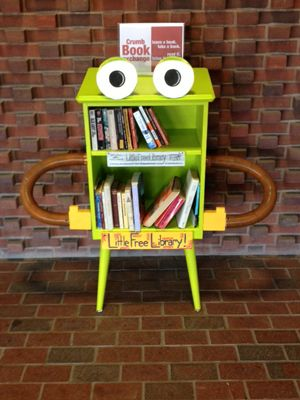 images of little free libraries | ... Little Free Library shelf, located in the lobby of Crumb Library