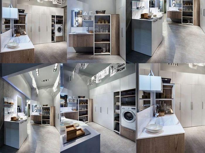 lavanderia con mobili di design more home mobili lavanderia case bagno ...