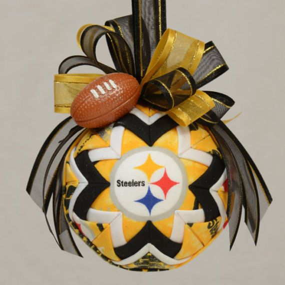 Pittsburgh Steelers Quilted Ornament NFL Ornament Christmas https://www.fanprint.com/licenses/pittsburgh-steelers?ref=5750