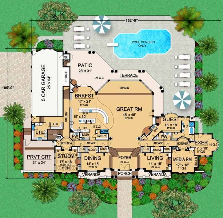 French country style house plans 12720 square foot home for French country garage plans