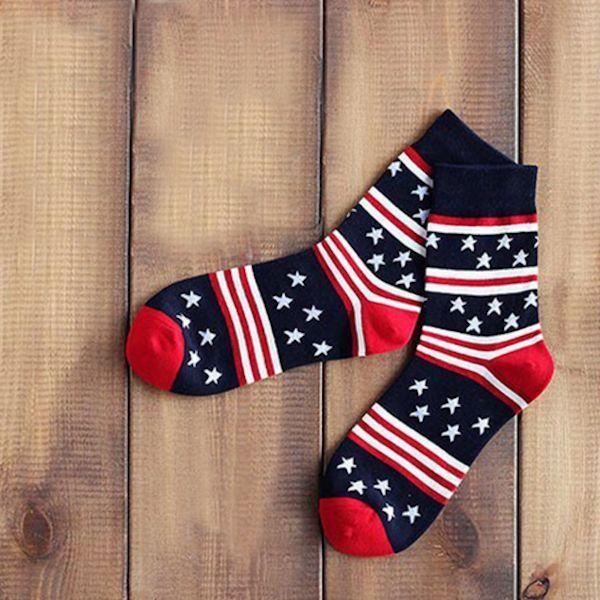 American Flag Socks Trouser Crew Patriotic Stripes NEW 10-13 or 6-12 shoe Unisex #HanadaSoxSocksmith #Socks