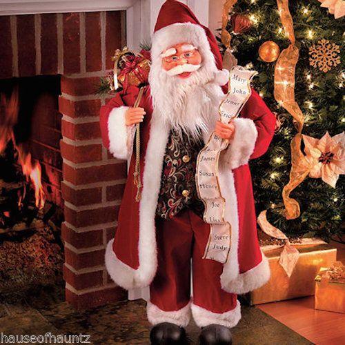 Animated Santa Claus Kris Kringle Christmas Decor Songs Music Moving Prop Tree