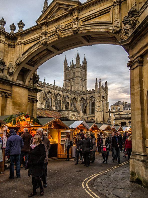 Christmas Market, Bath, England                              …