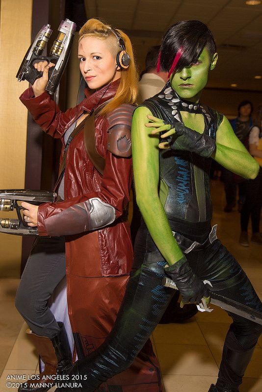 Star Lord and Gamora #Genderswap #Rulet63 #cosplay from Guardians of the Galaxy | Anime Los Angeles (ALA) 2015