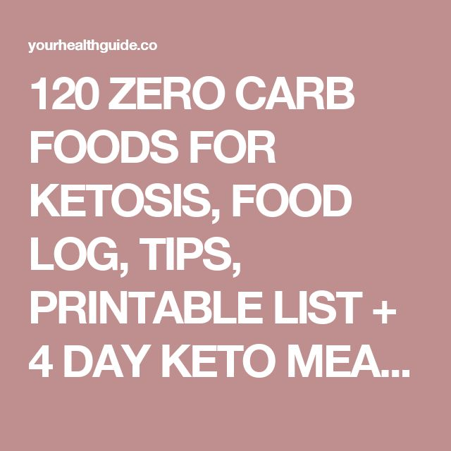 120 ZERO CARB FOODS FOR KETOSIS, FOOD LOG, TIPS, PRINTABLE LIST + 4 DAY KETO MEAL PLAN+WEIGHT LOSS PROGRAM – Your Health guide