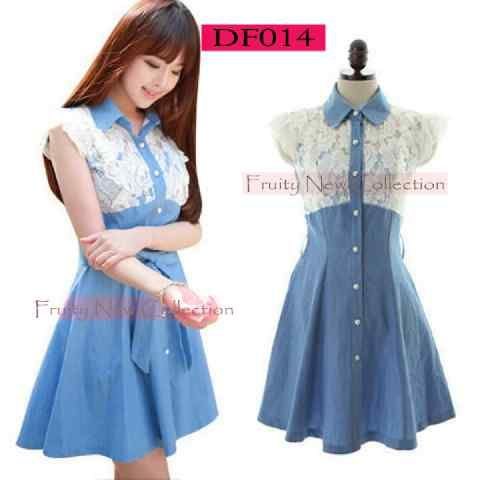 X2 DF014, PROMO ECER @84, denim+lace fit L , close PO 9nov (rede 9des)