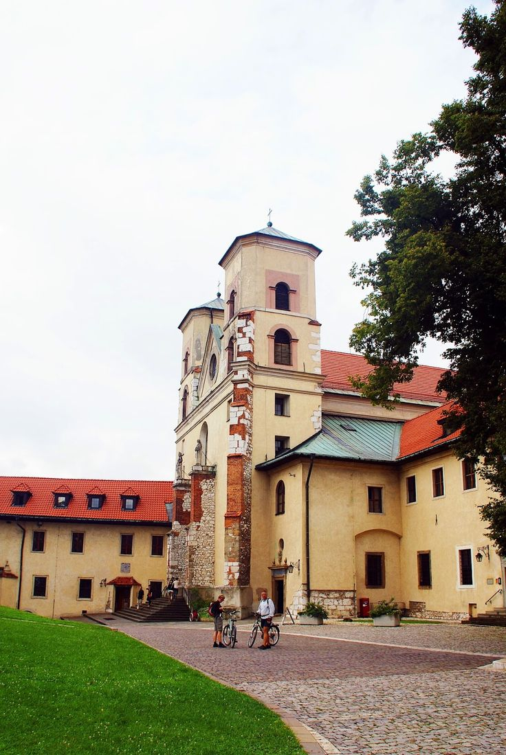The church at the Benedictine abbey in Tyniec outside Krakow in Poland