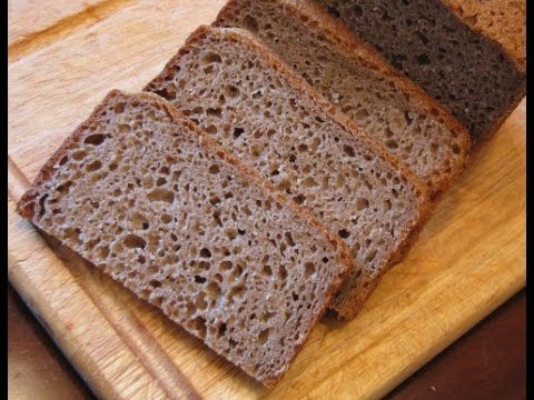 Ржаной обдирной черный хлеб
