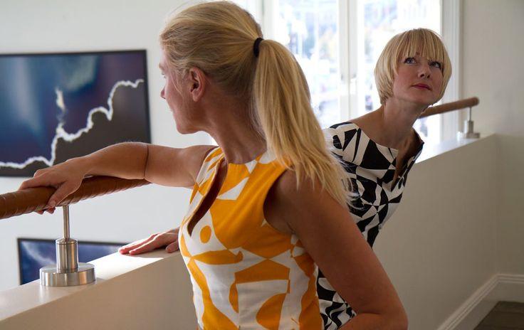 Tailored by FREEMOVER.se Dress Riviera, Regatta™ Orange/White and Black/White, designer Maria Lovisa Dahlberg. Photo: Fredrik du Rietz, vikingbild.se