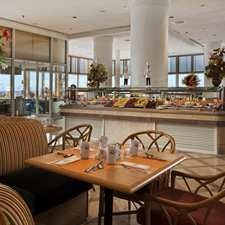 Coral Café restaurant || Feast on international buffets at this light and airy restaurant boasting floor-to-ceiling windows with views of the Red Sea and the Hilton Hurghada Plaza pool. Sample a range of dishes with nightly themed dinner buffets. The restaurant is closed 10:30am-12:30pm and 3:00pm-7:00pm.