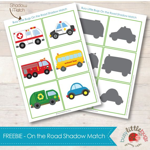 FREE on the road shadow match - Great for use with a Community Helpers unit. Which Community Helper Drives the vehicle.