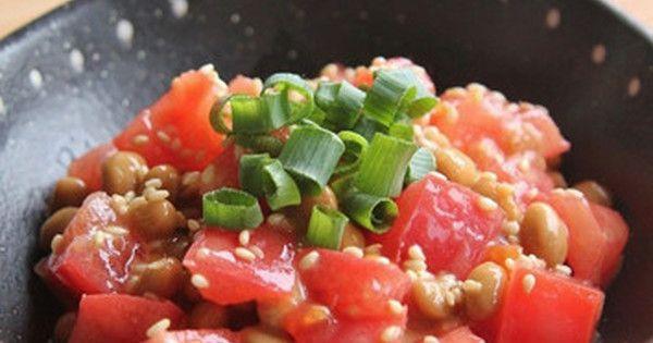 【火なしで簡単】毎日食べたい「トマト納豆」が絶妙なおいしさ! | クックパッドニュース