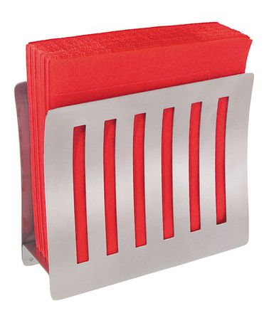 Take a look at this Stainless Steel Upright Napkin Holder by OGGI on  #zulily today. Contemporary ...