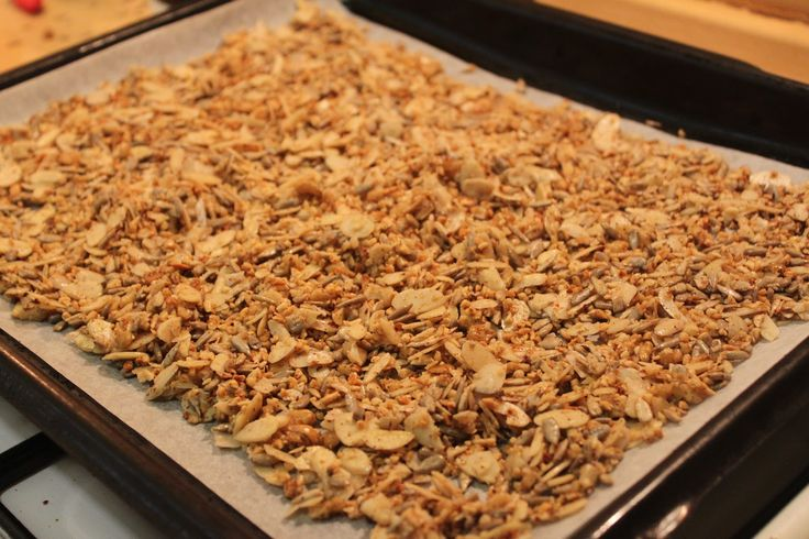 LCHF Gingerbread Muesli 100 grams of Walnuts *100 grams of Sunflower seeds *100 grams of chopped Hazelnuts *100 grams of Almond flakes *3 tablespoons of Coconut butter (unflavoured) *5-6 teaspoons of Gingerbread spice