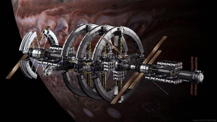 Complex star citizen ships interior spaceart