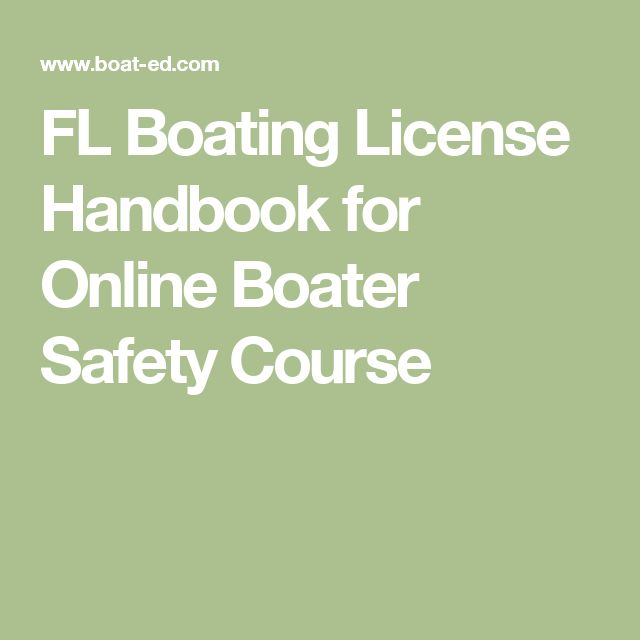 FL Boating License Handbook for Online Boater Safety Course
