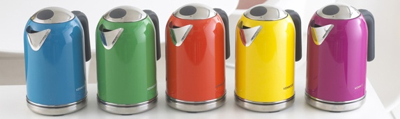 The new Kenwood kMix boutique range kettles