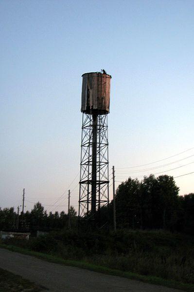 Water tower in Butakovo.