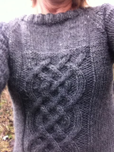 sweater with cables - wool