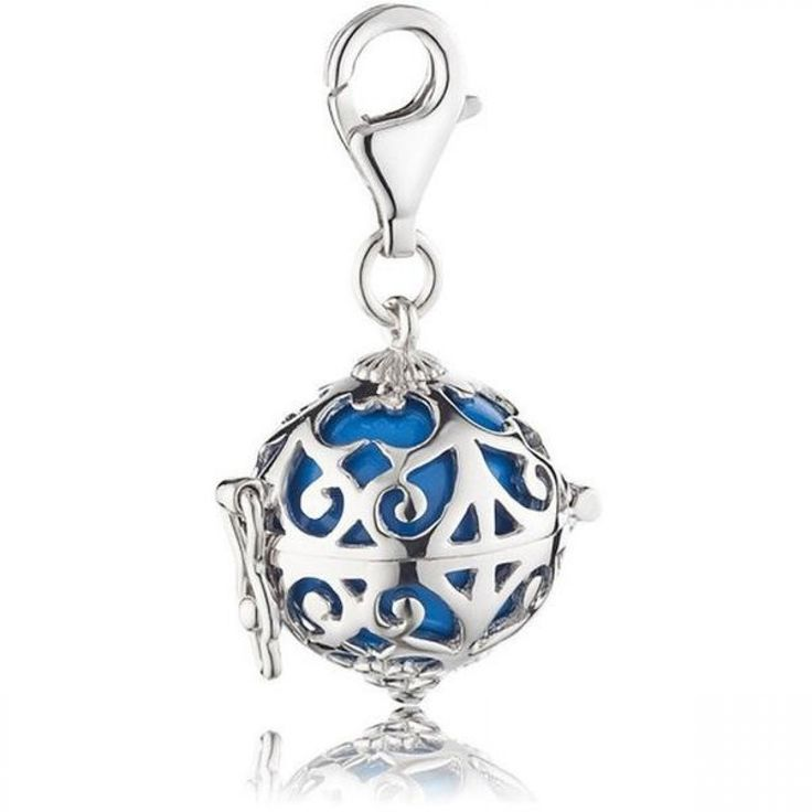 Silver Charm with Turquoise Soundball  - ENGELSRUFER - JEWELLERY