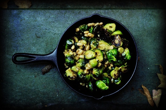 sprouts with white beans and pecorino | veggie | Pinterest