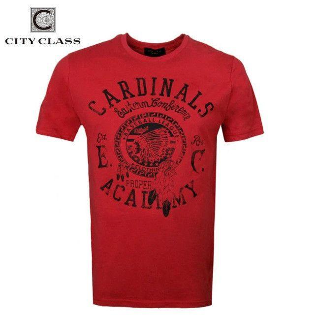 City mens t-shirt tops tees fitness hip hop men cotton