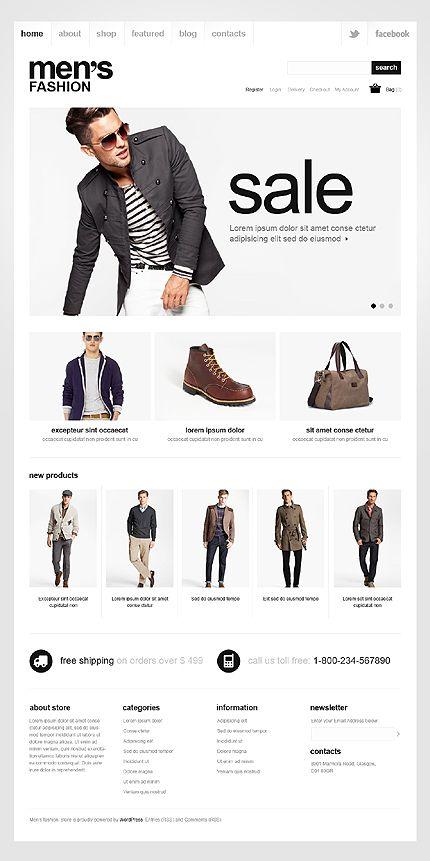 Men's Fashion Jigoshop Themes by Mercury