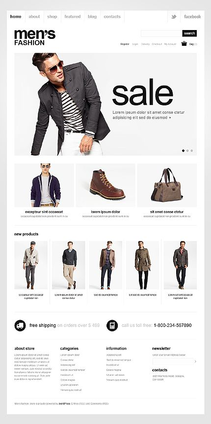Men's Fashion Jigoshop Themes by Mercury