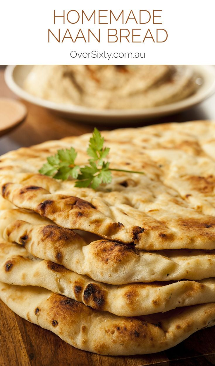 Homemade Naan Recipe - once you've mastered this basic recipe, you can try your own variations by adding garlic to the butter, or other herbs and seeds to the dough.