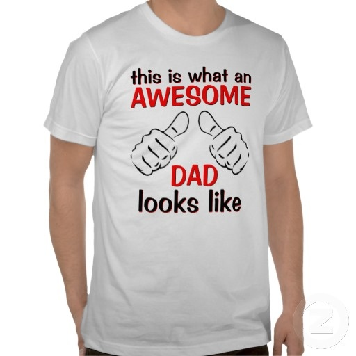 "Worlds Coolest Dad. Unique, funny, trendy and fashionable shirt with image of two thumbs up, and humorous ""this is what an AWESOME DAD looks like"" quote. Fun, cute, and great present for the cool dad's birthday, Father's day, Valentine's or Christmas."