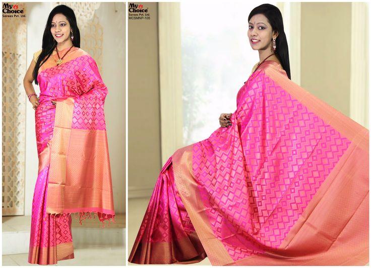 Manipuri Pink Color Saree