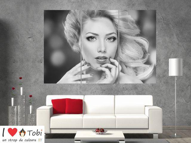Tablou multicanvas beauty lady - 3 piese - cod E29