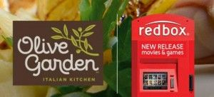 Olive Garden has an incredible promotion going on right now. When you dine in and order a lunch or dinner entree of $12.99 or more you can get a free take home entree! Also, if you text your receipt number to727272you will get a code for a FREE Redbox rental! You could pair this free take home meal, the free Redbox code and the $5 Domino's Pizza voucher for a really inexpensive family dinner! Head over here to see the  {Read More}