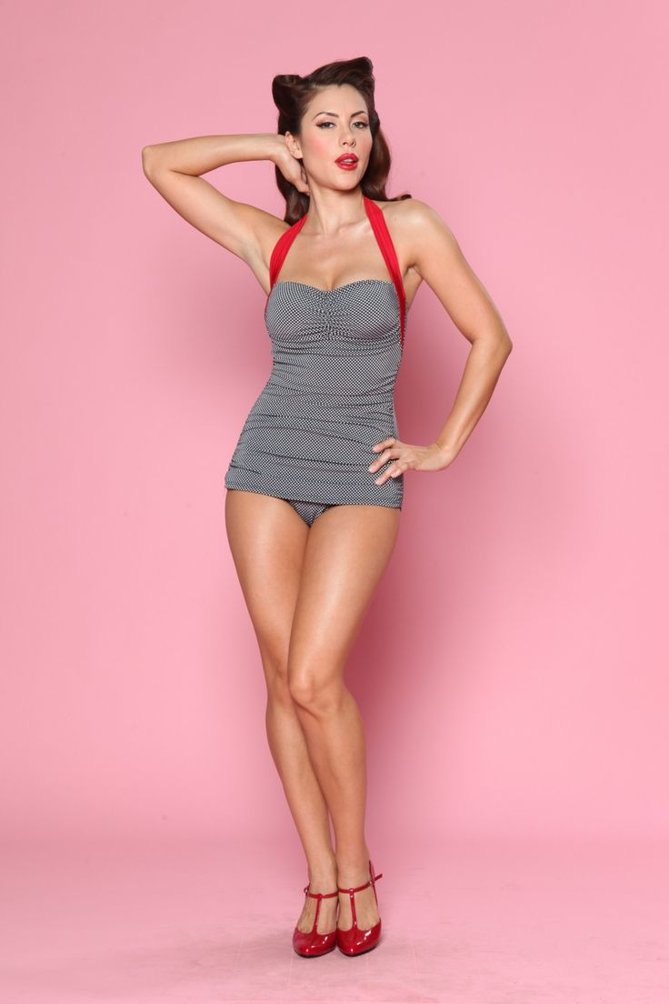 Esther Williams Swimwear - Classic Fifties One Piece Swimsuit Frock Patsy