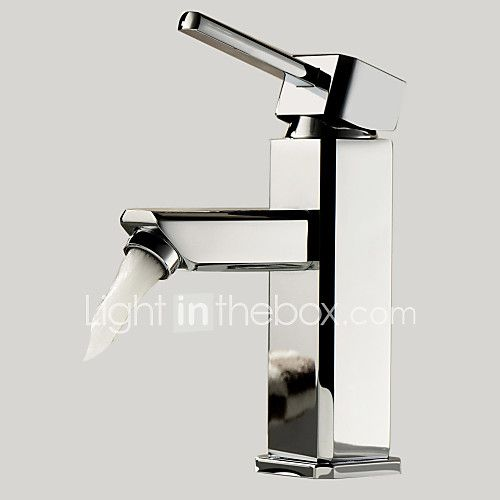 Contemporary Centerset Single Handle One Hole in Chrome Bathroom Sink Faucet - USD $30.39 ! HOT Product! A hot product at an incredible low price is now on sale! Come check it out along with other items like this. Get great discounts, earn Rewards and much more each time you shop with us!
