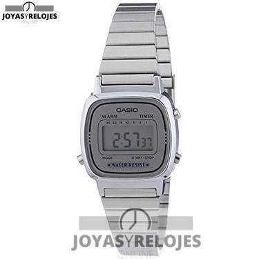 ⬆️😍✅ Casio LA670WEA-7EF ✅😍⬆️ Increíble Modelo de la Colección de Relojes Casio PRECIO 22 € Lo puedes comprar en 😍 https://www.joyasyrelojesonline.es/producto/casio-la670wea-7ef-reloj-digital-de-cuarzo-para-mujer-con-correa-de-acero-inoxidable-color-plateado/ 😍 ¡¡Edición limitada!!