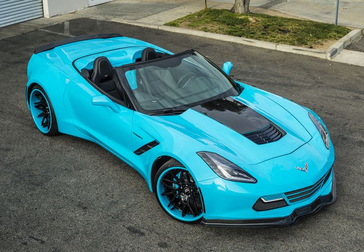 Electric blue Chevrolet Corvette Stingray convertible. Mind blowing! See it on @eBay today! #epic #spon