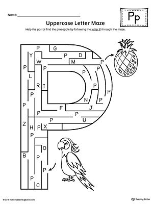 Uppercase Letter P Maze Worksheet Worksheet.If you are looking for creative ways to help your preschooler or kindergartener to practice identifying the letters of the alphabet, the Uppercase Letter Maze is the perfect activity.