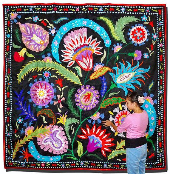 xx..tracy porter..poetic wanderlust...- stitchery uzbek ottoman silk embroidery