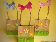 sac pour récolter les chocolats de Pâques